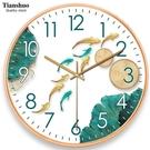 天朔靜音掛鐘客廳石英鐘表臥室掛表大氣簡約時鐘現代創意家用鐘表