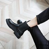 馬丁靴女英倫風秋冬短筒百搭平底切爾西短靴子【時尚大衣櫥】