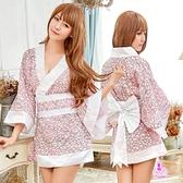角色扮演 日系甜美粉白改良和服角色扮演服三件組 愛的蔓延 NA18030009