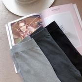 秋季新款黑色打底褲女外穿防走光安全緊身長褲子九分鉛筆褲薄 童趣屋
