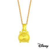 Disney迪士尼金飾 TSUM大眼怪 黃金墜子 送項鍊