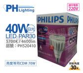 PHILIPS飛利浦 LED PAR30 40W 5700K 白光 30度 220V E27 燈泡 _ PH520410
