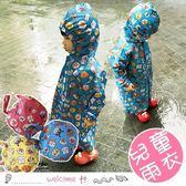 卡通面包超人拉鏈式兒童雨衣 附收納袋
