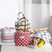 便當帶 田園風 彩色印花 保溫手提袋 便當袋【YL0498】 BOBI  03/30