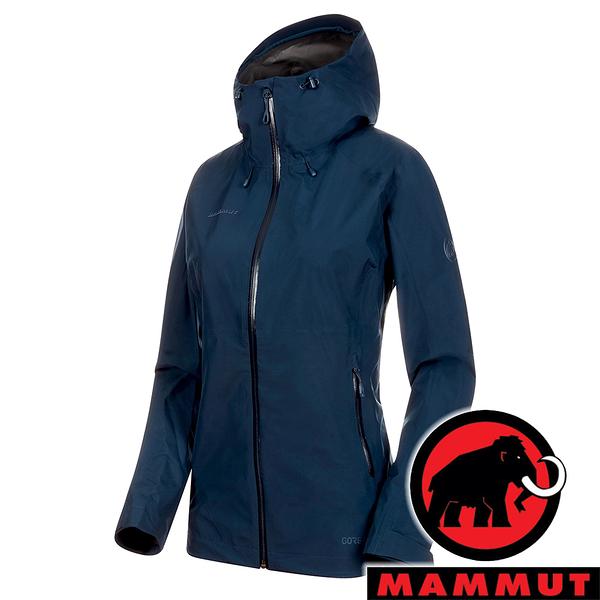 【MAMMUT 長毛象】女 Convey Tour 單件式GT連帽外套『藏青』1010-26022 戶外 露營 登山 保暖 禦寒