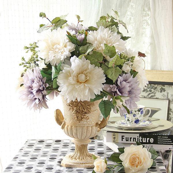 模擬花假花 套裝 花藝 客廳餐桌 裝飾花 花瓶花束 -bri01082
