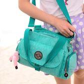 側背包 防水尼龍布媽咪包包新品夏季糖果色肩背手提包斜背女士包
