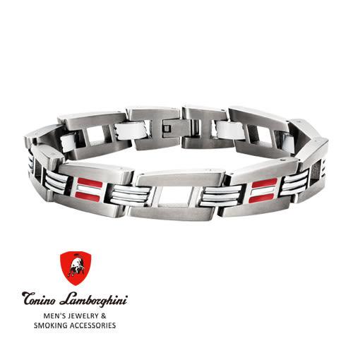 義大利 藍寶堅尼精品 - CORSA Collection 手鍊(紅色) ★ Tonino Lamborghini 原廠進口 時尚必備行頭 ★