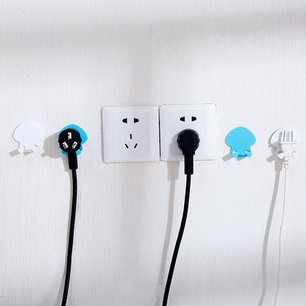 [超豐國際]粘貼電源插頭掛鉤創意強力電器電線粘膠支架插座頭收納粘鉤