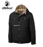 丹大戶外用品 荒野【Wildland】男鵝絨防潑水極暖外套 型號 0A62998-54 黑色