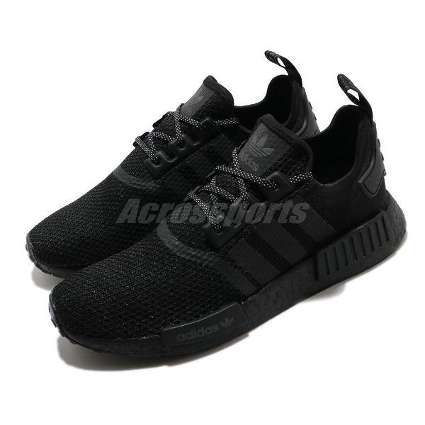 adidas 休閒鞋 NMD_R1 黑 全黑 男鞋 女鞋 Boost 襪套式 運動鞋【ACS】 FV7969