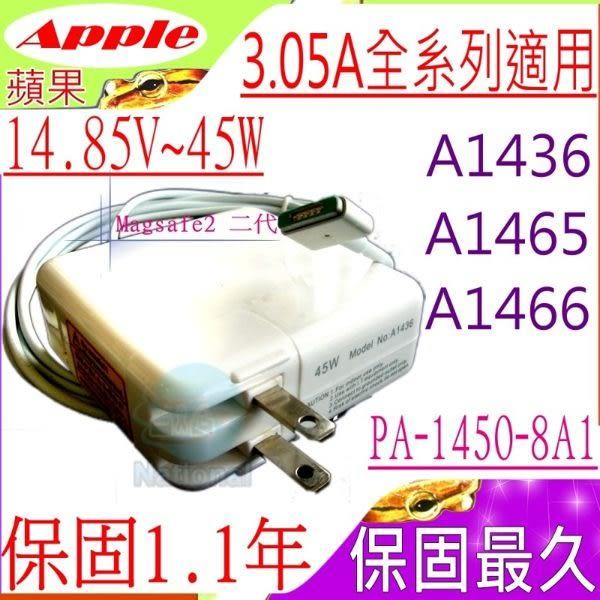 APPLE 14.85V,3.05A,45W 變壓器(保固最久)- MagSafe 2,A1465,A1436,A1466,MD223F,MD224J,MD223N,MD223D