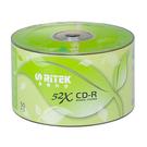 錸德RITEK CDR 光碟片52X 50入裸包80MIN.700MB