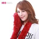 【MIT台灣製】天使羽毛超柔軟魔術圍巾─滿天星光(酒紅)
