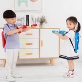 小豬水槍兒童背包水槍玩具男女小孩抽拉大號水槍寶寶戲水沙灘梗豆物語