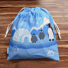 ≡MARIUM≡《束口袋》企鵝家族-藍色 SB-601034