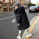 女童羽絨服 女童羽絨服中長款2019新款韓版洋氣中大童兒童裝加厚寶寶冬裝外套 快樂母嬰