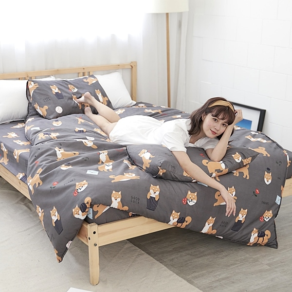 #U109#舒柔超細纖維6x6.2尺雙人加大床包+枕套三件組-台灣製(不含被套)