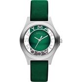 MBM1336 MARC BY MARC JACOBS  MBMJ 全鋼 鏤空錶盤時刻 綠面女錶