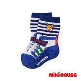 MIKI HOUSE  日本製可愛普奇熊中筒襪(藍)