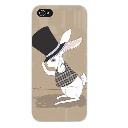 ♥ 俏魔女美人館 ♥ {戴帽兔子*水晶硬殼} Iphone 5 / 5S/ 5C  手機殼 手機套 保護殼 保護套