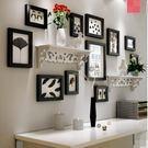 相框牆創意相牆組合餐廳客廳臥室相框掛牆背景牆【全黑色框+華沙畫芯】