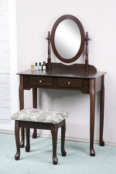 化妝桌+化妝椅 二抽 化妝桌椅組 化妝椅 化妝品收納 化妝台 梳妝台 化妝台 鏡檯【F0020】