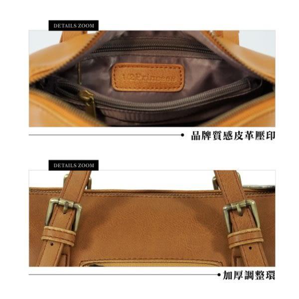 1/2princess 復古皮革經典重現絕美2WAY波士頓斜背手提包-3色[A2774]