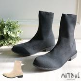 短靴 針織襪套平底短靴 MA女鞋 T8024