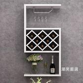 酒架歐式小戶型客廳酒架壁掛酒櫃餐廳牆上創意懸掛式酒架置物架裝飾架xw