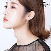 氣質百搭黑色耳釘女韓國個性潮人耳環網紅性感吊墜耳墜耳飾品
