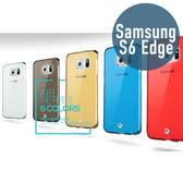 SAMSUNG 三星 S6 Edge TPU透明保護殼 + 鋼化保護貼 手機殼 保護膜 手機套 螢幕貼 鋼化膜