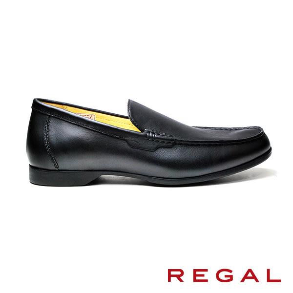【REGAL】簡約素色樂福鞋 黑色(T89A-BL)