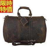 行李袋-肩背歐美時尚手工真皮大包商務大容量男手提包66b20【巴黎精品】
