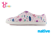 native 水鞋 洞洞鞋 JERICHO PRINT 成人女款 北歐綠園 童話繪本 修身鞋 懶人鞋 L9443#粉紅◆OSOME奧森鞋業