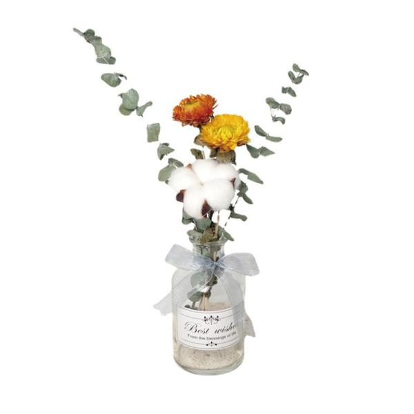 【05056】 北歐乾燥花瓶組 乾燥花+玻璃瓶 玻璃花瓶 居家裝飾 永生花 乾燥花 花瓶 木棉花