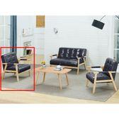 沙發組 BT-98-4 1號單人椅(單只)(黑皮) (不含大小茶几) (可拆賣)【大眾家居舘】