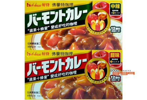 【吉嘉食品】佛蒙特咖哩(甜味/中辣) 1盒230公克90元[#1]