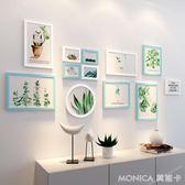 壁畫 簡約現代照片墻創意個性相框墻組合墻上背景掛墻相片框  莫妮卡小屋 YXS