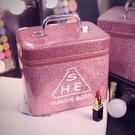 化妝包大容量小號便攜韓國簡約可愛少女收納盒品大網紅化妝箱手提 小明同學