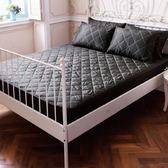 DOKOMO朵可•茉-MIT台灣精製《單人3.5x6.2尺防潑水床包式保潔墊+枕頭套式保潔墊》-經典黑