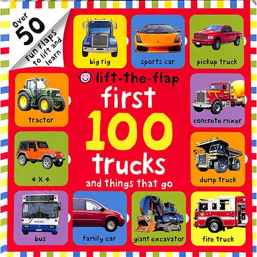 Lift-The-Flap First 100 Trucks And Things That Go 100個交通工具單字翻翻操作書(美國版)