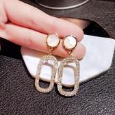耳環 網紅耳釘女純銀氣質韓國高級感耳環2019新款潮耳夾冷淡風耳飾復古 【免運快速出貨】