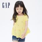 Gap女幼童布萊納系列可愛印花短袖上衣689392-黃色印花