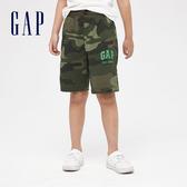 Gap 男童 棉質舒適鬆緊腰休閒短褲 540265-迷彩色