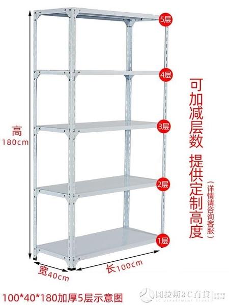 聚佑角鋼貨架置物架倉庫家用服裝架鐵架儲物倉儲輕型超市定做貨架QM 圖拉斯3C百貨