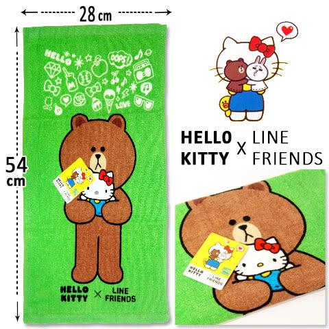 Hello Kitty x Line Friends 純棉童巾 抱抱款 三麗鷗 Sanrio