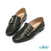 【Avivi】經典方釦樂福鞋-綠