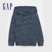 Gap男幼童 簡約純色長袖針織上衣 619191-藏青色