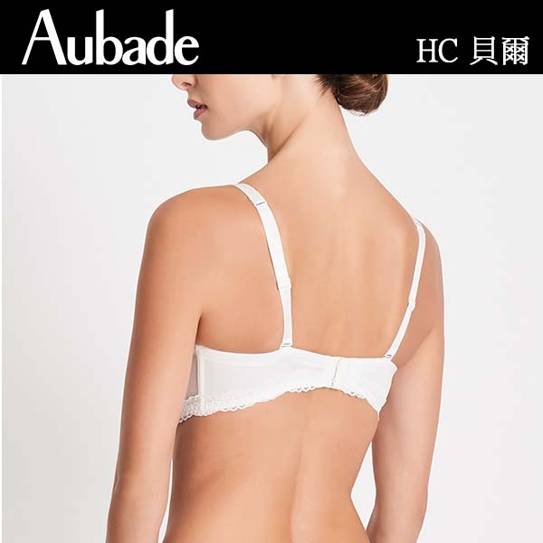 Aubade貝爾蕾絲75B-E新娘款可拆肩帶內衣(樣品)HC